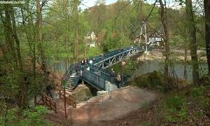 Neue Brücke in Wolkenburg