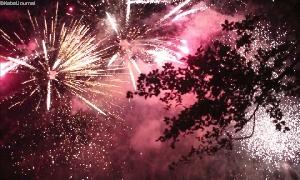 Musikfeuerwerk am Stadtparkteich