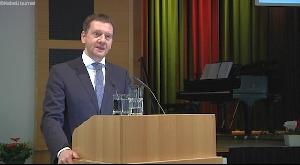 Ministerpräsident Michael Kretschmer in Frankenberg