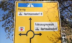 Kreisverkehrs in Hartmannsdorf