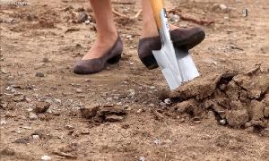 1. Spatenstich für neuen Bauhof