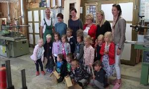 Kinder des Niederfrohnaer Kindergartens Pfiffikus
