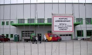 Logistikzentrum der OMEGA Blechbearbeitung Limbach-Oberfrohna AG sowie der Limbacher Oberflächenveredelung GmbH