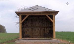 Neue Schutzhütte in Leubsdorf