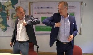 Bürgermeister Dirk Neubauer undeins-Geschäftsführer Roland Warner