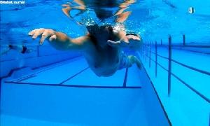 Stundenschwimmen im Freibad Penig