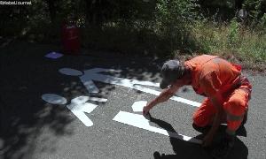 Straßenmarkierungen in Wolkenburg