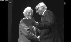 Dr. Klaus Ulm mit Erich Homilius