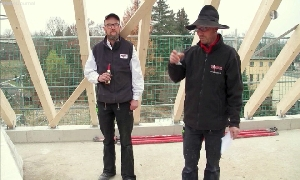 Richtfest am Bau des Karl-May-Haus-Depot