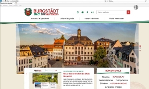 Burgstädt mit neuer Homepage