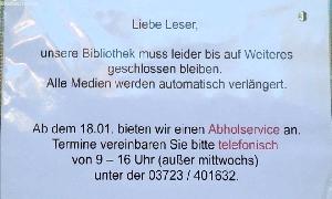 Bibliothek bietet Abholservice