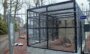 Vogelvolieren an der Stadtgärtnerei