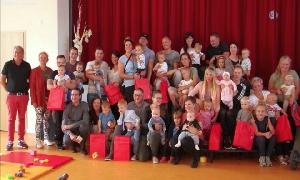 Babyempfang in Niederfrohna